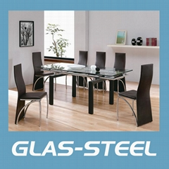 Extention Glass Dining Table