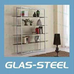 2012 Modern Metal Glass Bookshelf