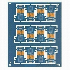 Six layer Rigid-flex PCB with immersion gold surface treatment