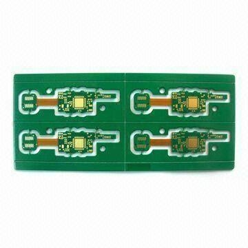 Four layer Rigid-flex Board with immersion gold surface treatment 1