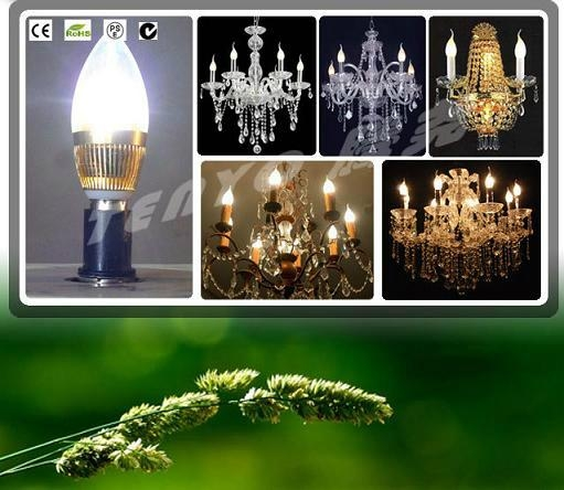 High Efficient LED Candle Light Bulb with Clear Glass 1