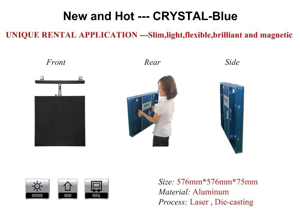 P6 rental led display with aluminum cabinet 1