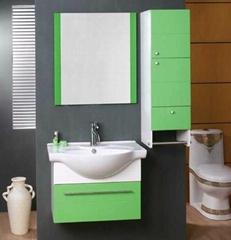 Wall mounted PVC Bathroom mirror Cabinet
