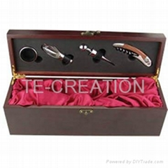 wine wood box set