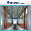 Paint Booth With 3D Lift Platform
