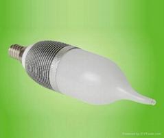 3w E14 180lm 3pcs of 1w high power led WW/CW led candle light-YY01-P3W3E-LZ