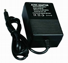 12V dc 1A 12W switching power adapter compact design