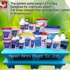 Chemical export plastic pallets