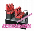 5D motion theater supplier 6DOF 6seats hydraulic seats platform home theater sys 3