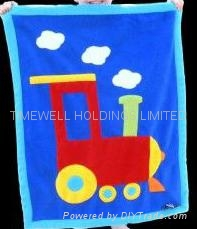 kids 100% polyester polar fleece blanket 5