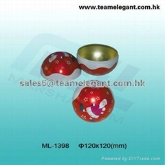 christmas tin boxes,tin balls,holiday decoration