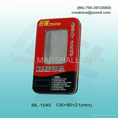 metal tin package,tin boxes with open window
