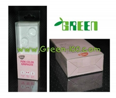 Offset printing packaging box with inner tray for earphone