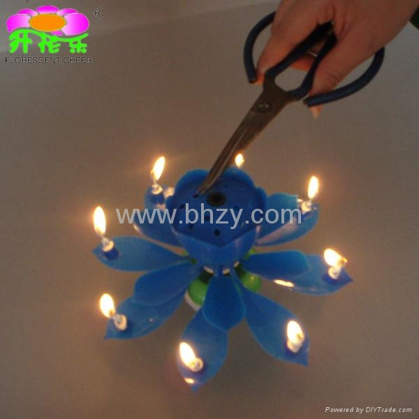 Rotating Lotus Flower Magic Birthday Candle 5
