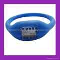 Pink Rhinestone Silicone Negative Ion Watch  3