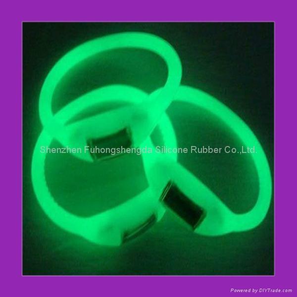 GLow in dark  Silicone Negative Ion Watch  2