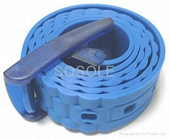 Fashion colorful latest silicone rubber belt with gift box