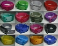 Fashion colorful latest silicone rubber belt with gift box  2