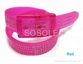 Fashion colorful latest silicone rubber belt with gift box  5