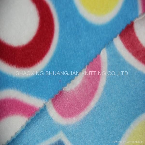 100% Polyester Two Sides Brush Wholesale Fleece Fabric 4