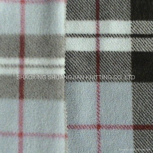 100% Polyester Two Sides Brush Wholesale Fleece Fabric 2