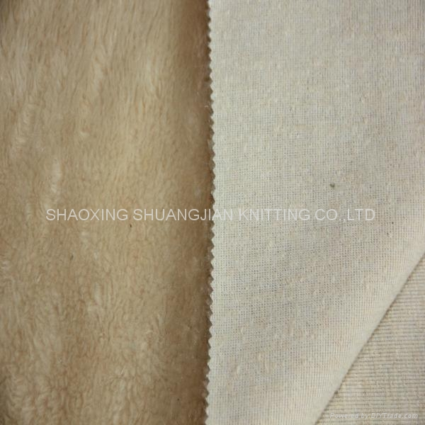 100% Polyester Sherpa Bulk Fleece Fabric 2