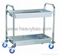 Stainless Steel Bowl Collection cart