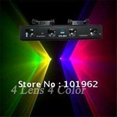Fast Ship 4 Lens 4 Color RGYV Laser Light DMX DJ stage  Christmas Lights