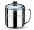Small stainless steel cup (with lid)