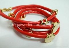 New Arrival Make Adjustable studs Leather bracelets(colors)