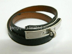 New Arrival horse buckle  wrap Leather bracelets(colors)