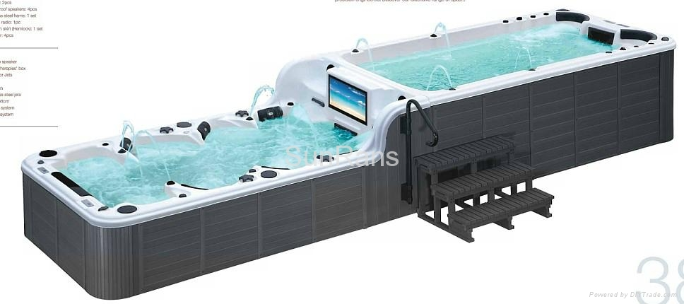 Endless swimming pool spa jacuzzi hottub sr859 sunrans - Endless pools swim spa owner s manual ...