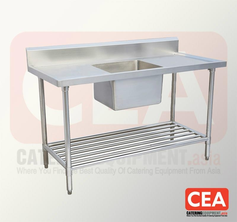 Stainless Steel Table Sink : Stainless Steel Work Table with Sink - TH-1SBB - CEA (China ...