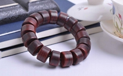 barrel beads/108*0.8cm hand carved India lobular rosewood rosary