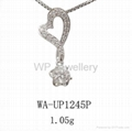 925 sterling silver pendant with rhodium