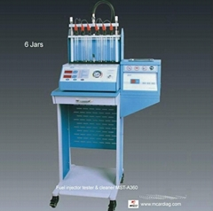 Fuel Injector Tester and Cleaner Ultrasonic cleaning SIEMENS pump 6 jars LED dis