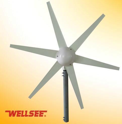 WELLSEE 6 leaves Wind Turbine/ A horizontal axis wind turbine 1