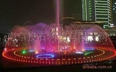 投石互動音樂噴泉