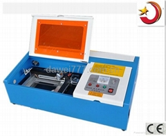 CO2 laser rubber stamp engraving machine