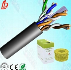 pure copper twisted 4pairs 24awg utp cat6 lan cable