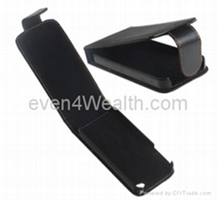 Leather Flip Case Cover for Apple iphone 4 / 4S