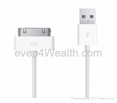 Apple All Series Devices 30-PIN USB Cable Male/Male - White