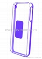 TPU Soft Silicone Frame Hard Clear Transparent Plastic Cover Case For iPhone 4G