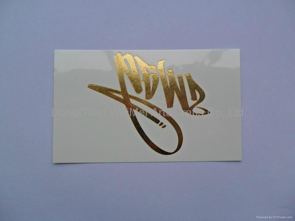 Gold Foil Transfer Temporary Tattoo Stickers 3