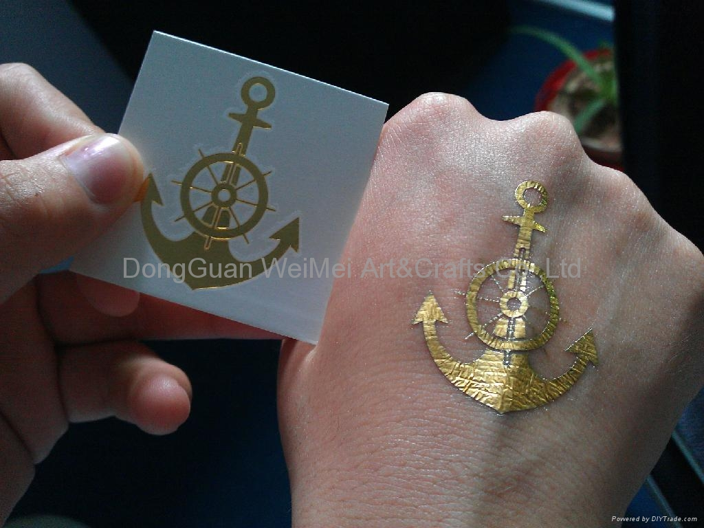 gold foil transfer temporary tattoo stickers dgwemei