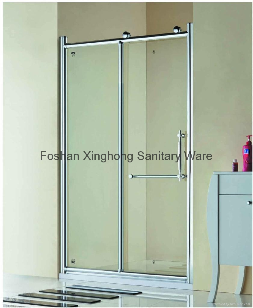 Popular Double Open Sliding Shower Screen Door Xh 8859