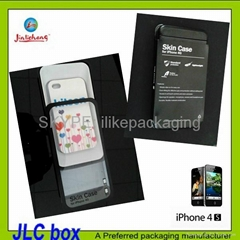 clear pet gift box promotion for iphone 4s case