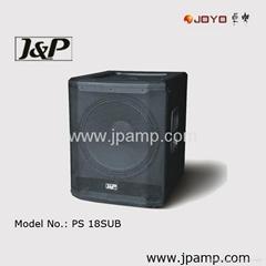PA speaker system 18 inch subwoofer speaker box