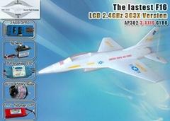 F-16 RTF Brushless LI-PO LCD 2.4GHz with 3G3X
