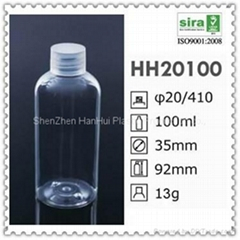 100ml pet cosmetic airless bottle